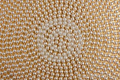 Spiral of  white beads