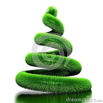 spirale als weihnachtsbaum stockfotografie bild 15135642. Black Bedroom Furniture Sets. Home Design Ideas
