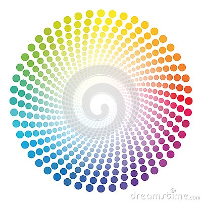 Free Spirale Dots Tube Rainbow Colored Circular Pattern Royalty Free Stock Images - 107636439