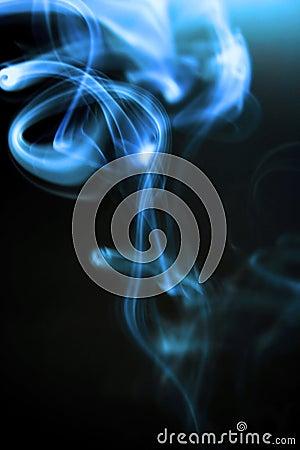Spiralling Cigarette Smoke