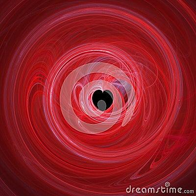 Spiralling red heart
