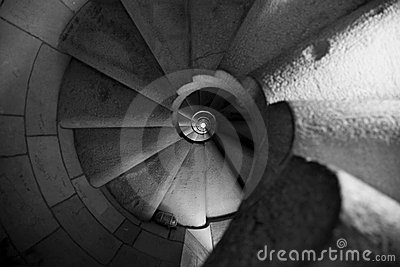Spiralling stairs Editorial Stock Image