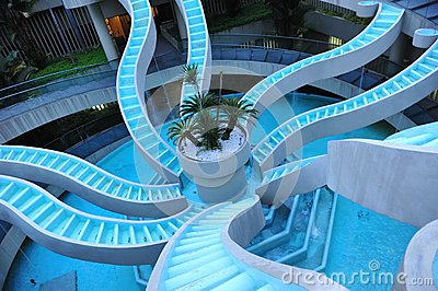 Spiralling water feature