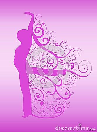 Spirals dancer silhouette