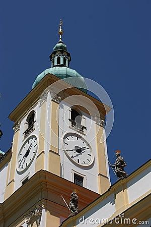 Spire of basilica minor church in Olomouc