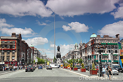 Spire of Dublin in center of city Editorial Stock Photo
