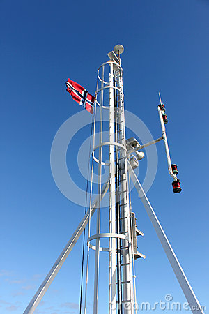 Spire with Norwegian flag