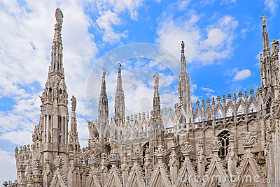 Spires of the Cathedral of Milan