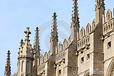 Spires of King s College Chapel, Cambridge.