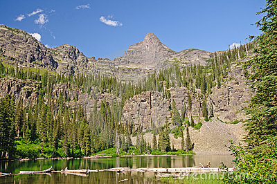 Spires over an Alpine Lake