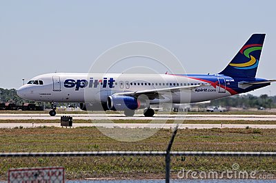 Spirit Airlines Airbus A320 Editorial Photography