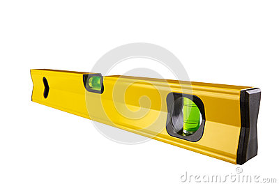 Spirit level isolated on white Clipping Paths