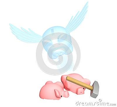 Spirit of piggy bank