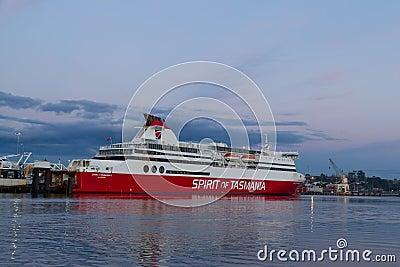Spirit of Tasmania I ferry boat docked Devonport Editorial Stock Image