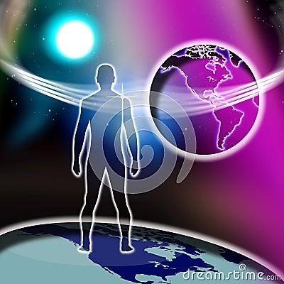 Spiritual Cross Man Faith World