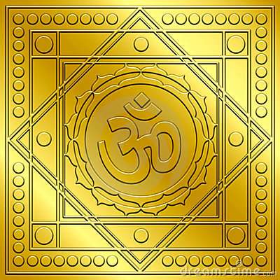 Spiritual Golden Om Design
