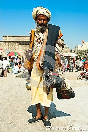 Spiritual Guru Shaiva sadhu (holy man) Editorial Photography