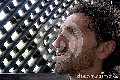 Spiritual man portrait