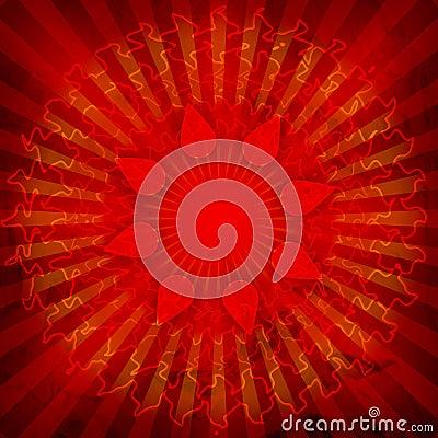 Spiritual Om On Mandala