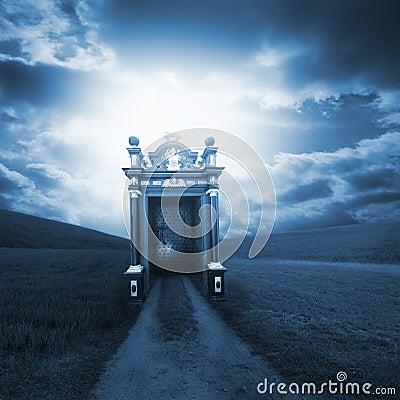 Free Spiritual Path Behind The Gate Royalty Free Stock Image - 23217596
