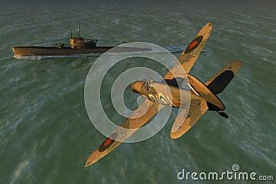 Spitfire and U-boat