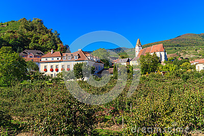 Spitz Village Church in famous Wachau Valley