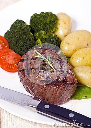 Spitzenlendenstück-Steak