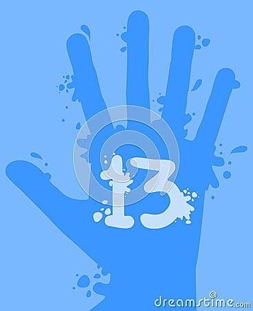 Splash 13 hand