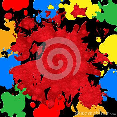 Splash Background Represents Paint Colors And Spatter