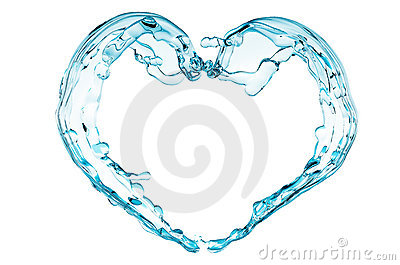 Splash of blue water