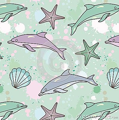 Splash-dolphin-pattern
