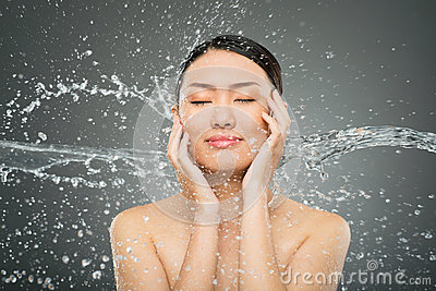 Splash on face