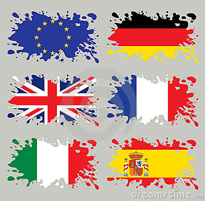 Splash flags set Europe