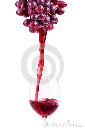 Splash red wine