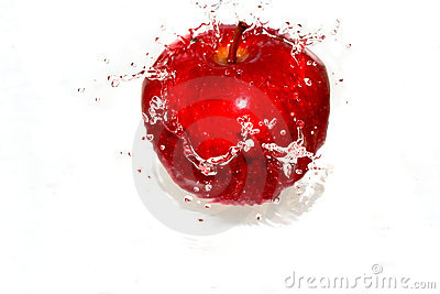 Splash-serie: red apple 2