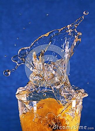 Splash and spray water.