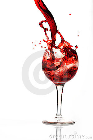 A splash of wine in glass