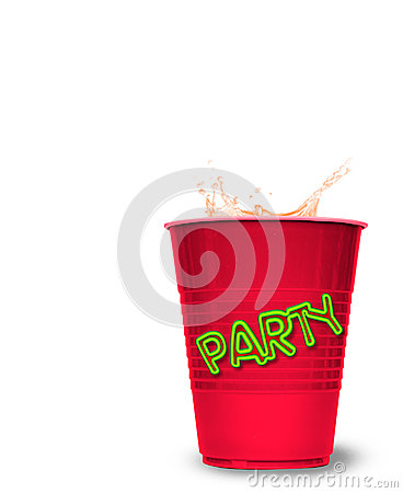 Splashed drink in party cup