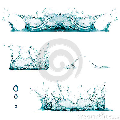 Splashes. Drops