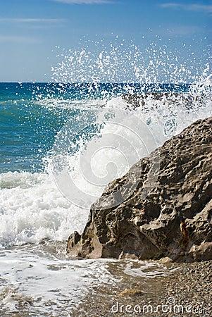 Splashes on a sea