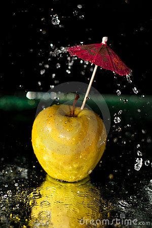 Splashing on apple