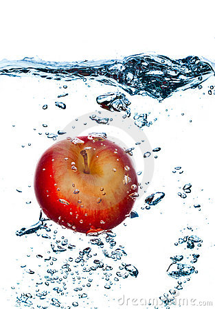 Splashing apple.