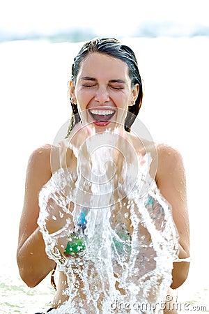Splashing beauty