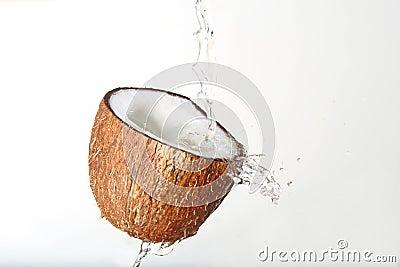 Splashing coconuts