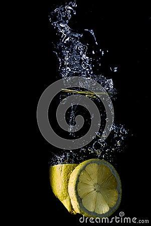 Splashing lemon.