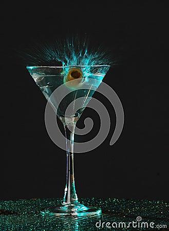 Free Splashing Martini Royalty Free Stock Image - 326266