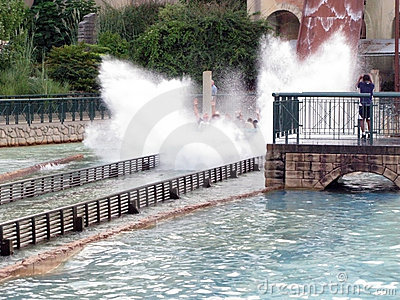 Splashing Water Ride at Theme Park