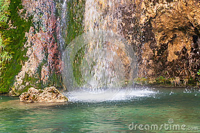 Splashing waterfall