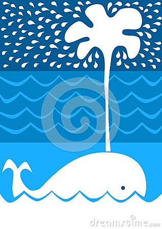 Splashing Whale Invitation Card