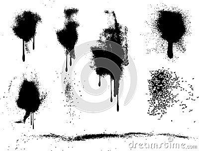 Splats de la pintura de aerosol de Grunge